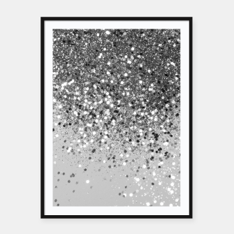 Thumbnail image of Soft Silver Gray Glitter #1 (Faux Glitter - Photography) #shiny #decor #art  Plakat mit rahmen, Live Heroes