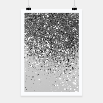 Soft Silver Gray Glitter #1 (Faux Glitter - Photography) #shiny #decor #art  Plakat obraz miniatury