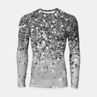 Thumbnail image of Soft Silver Gray Glitter #1 (Faux Glitter - Photography) #shiny #decor #art  Longsleeve rashguard, Live Heroes