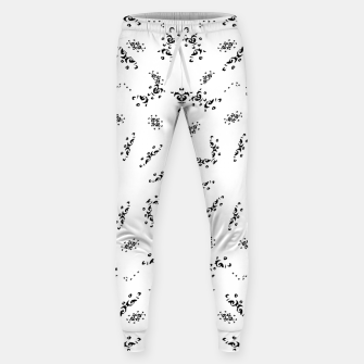 Thumbnail image of Ethnic Ornate Black and White Design Print  Sweatpants, Live Heroes