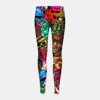 Miniatur Men and Mutants Color Girl's leggings, Live Heroes