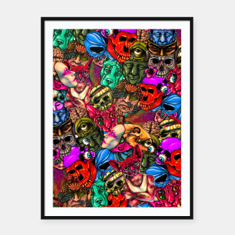 Miniatur Men and Mutants Color Framed poster, Live Heroes