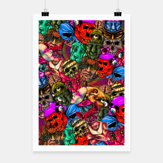 Miniatur Men and Mutants Color Poster, Live Heroes