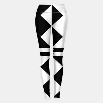 Thumbnail image of Black Geo Leggings, Live Heroes