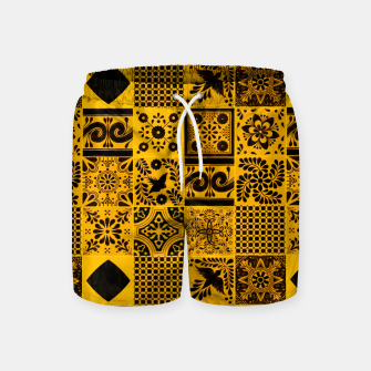 Miniaturka Lovely Traditional Moroccan Oriental Artwork Tiles Stle Swim Shorts, Live Heroes