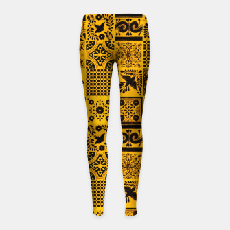 Thumbnail image of Lovely Traditional Moroccan Oriental Artwork Tiles Stle Girl's leggings, Live Heroes