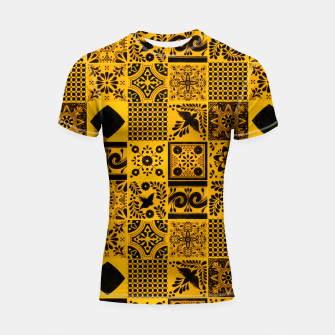 Thumbnail image of Lovely Traditional Moroccan Oriental Artwork Tiles Stle Shortsleeve rashguard, Live Heroes