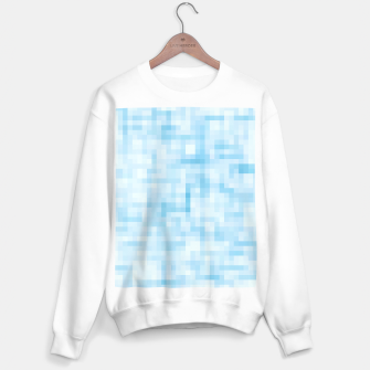 Thumbnail image of geometric square pixel pattern abstract in blue Sweater regular, Live Heroes