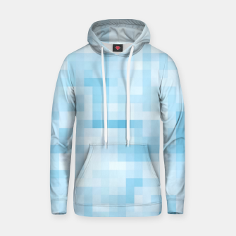 Thumbnail image of geometric square pixel pattern abstract in blue Hoodie, Live Heroes