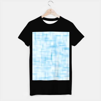 Thumbnail image of geometric square pixel pattern abstract in blue T-shirt regular, Live Heroes