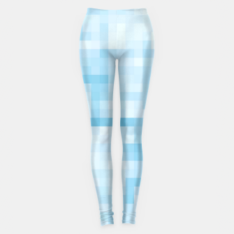 Thumbnail image of geometric square pixel pattern abstract in blue Leggings, Live Heroes