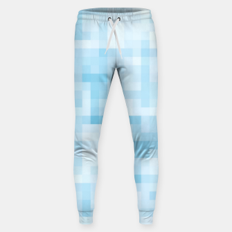Thumbnail image of geometric square pixel pattern abstract in blue Sweatpants, Live Heroes