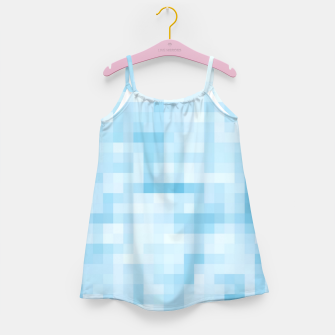 Thumbnail image of geometric square pixel pattern abstract in blue Girl's dress, Live Heroes