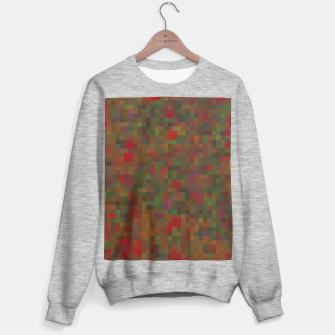 geometric square pixel pattern abstract background in red green orange Sweater regular thumbnail image