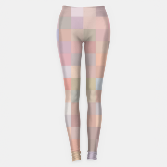 Thumbnail image of geometric square pixel pattern abstract in pink and blue Leggings, Live Heroes
