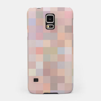 Thumbnail image of geometric square pixel pattern abstract in pink and blue Samsung Case, Live Heroes