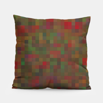 Thumbnail image of geometric square pixel pattern abstract background in red green orange Pillow, Live Heroes