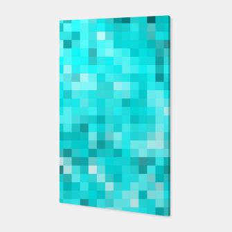 Thumbnail image of geometric square pixel pattern abstract background in blue Canvas, Live Heroes