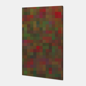Thumbnail image of geometric square pixel pattern abstract background in red green orange Canvas, Live Heroes