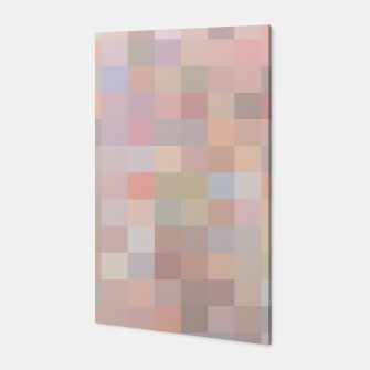 Miniaturka geometric square pixel pattern abstract in pink and blue Canvas, Live Heroes