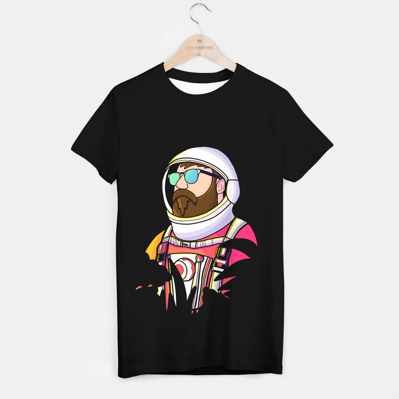 Image de Cool dude astronaut T-shirt regular - Live Heroes