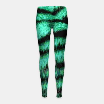 Miniatur Neon tiger stripes Kinder-Leggins, Live Heroes