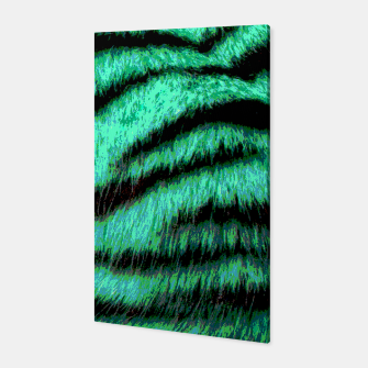 Miniatur Neon tiger stripes Canvas, Live Heroes