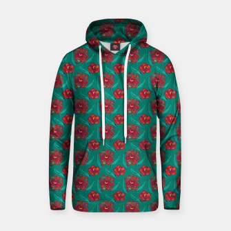 Thumbnail image of Floral on Peacock Green Hoodie, Live Heroes