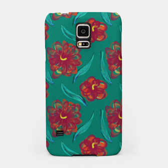 Miniaturka Floral on Peacock Green Samsung Case, Live Heroes