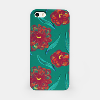 Miniaturka Floral on Peacock Green iPhone Case, Live Heroes
