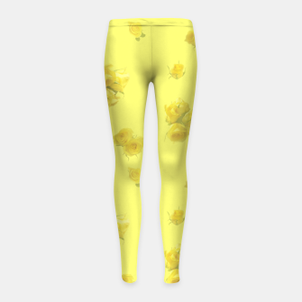 Thumbnail image of Soft Yellow Girl's leggings, Live Heroes