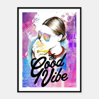 Thumbnail image of Good Vibe Framed poster, Live Heroes