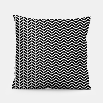 Thumbnail image of Arrows Black & White Pillow, Live Heroes