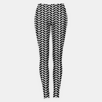 Thumbnail image of Arrows Black & White Leggings, Live Heroes