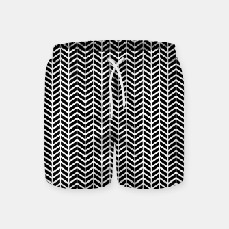 Thumbnail image of Arrows Black & White Swim Shorts, Live Heroes