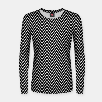 Thumbnail image of Chevron Black And White Women sweater, Live Heroes