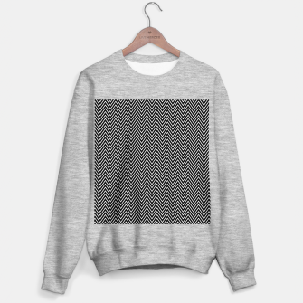 Chevron Black And White Sweater regular thumbnail image