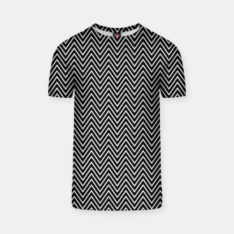 Chevron Black And White T-shirt thumbnail image