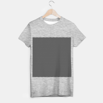 Chevron Black And White T-shirt regular thumbnail image