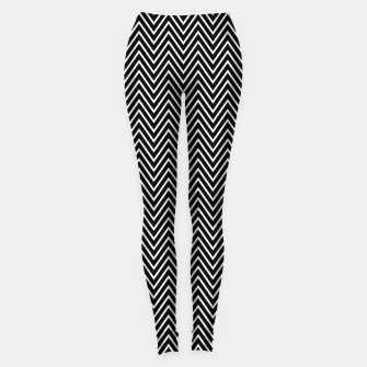 Thumbnail image of Chevron Black And White Leggings, Live Heroes