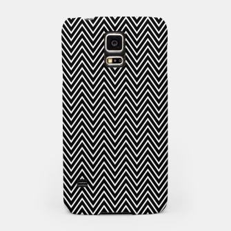 Chevron Black And White Samsung Case thumbnail image