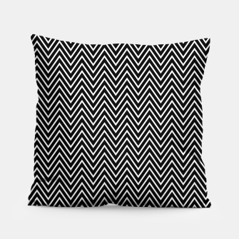 Chevron Black And White Pillow thumbnail image