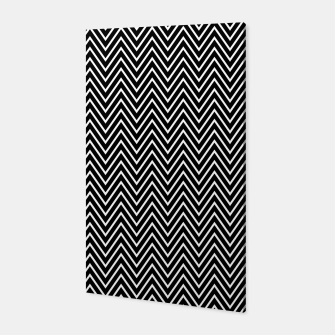Chevron Black And White Canvas thumbnail image