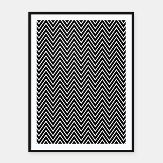Thumbnail image of Chevron Black And White Framed poster, Live Heroes