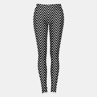 Chevron Black And White Leggings thumbnail image