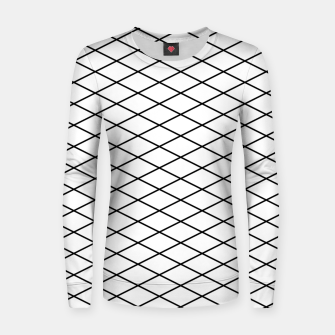 Thumbnail image of Lines Black & White Women sweater, Live Heroes