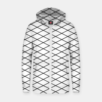 Thumbnail image of Lines Black & White Zip up hoodie, Live Heroes