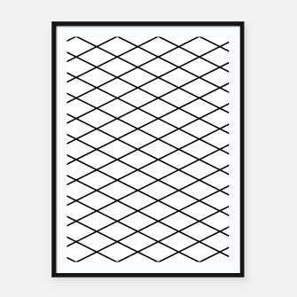 Thumbnail image of Lines Black & White Framed poster, Live Heroes