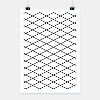 Thumbnail image of Lines Black & White Poster, Live Heroes