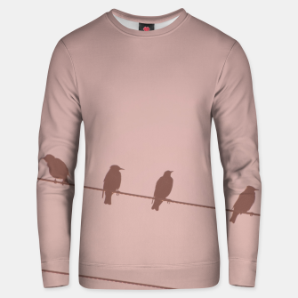 Birds on a wire Unisex sweater thumbnail image